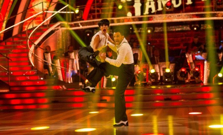 WARNING: Embargoed for publication until 20:00:00 on 07/11/2015 - Programme Name: Strictly Come Dancing 2015 - TX: 07/11/2015 - Episode: n/a (No. n/a) - Picture Shows: **DRESS REHEARSAL** EMBARGOED FOR PUBLICATION UNTIL 20:00 HRS ON SATURDAY 7TH NOVEMBER 2015 Janette Manrara, Peter Andre - (C) BBC - Photographer: Guy Levy