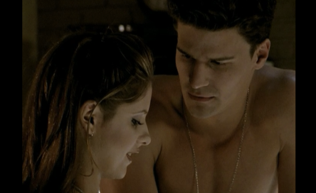 David Boreanaz as Angel on Buffy the Vampire Slayer season one episode Angel